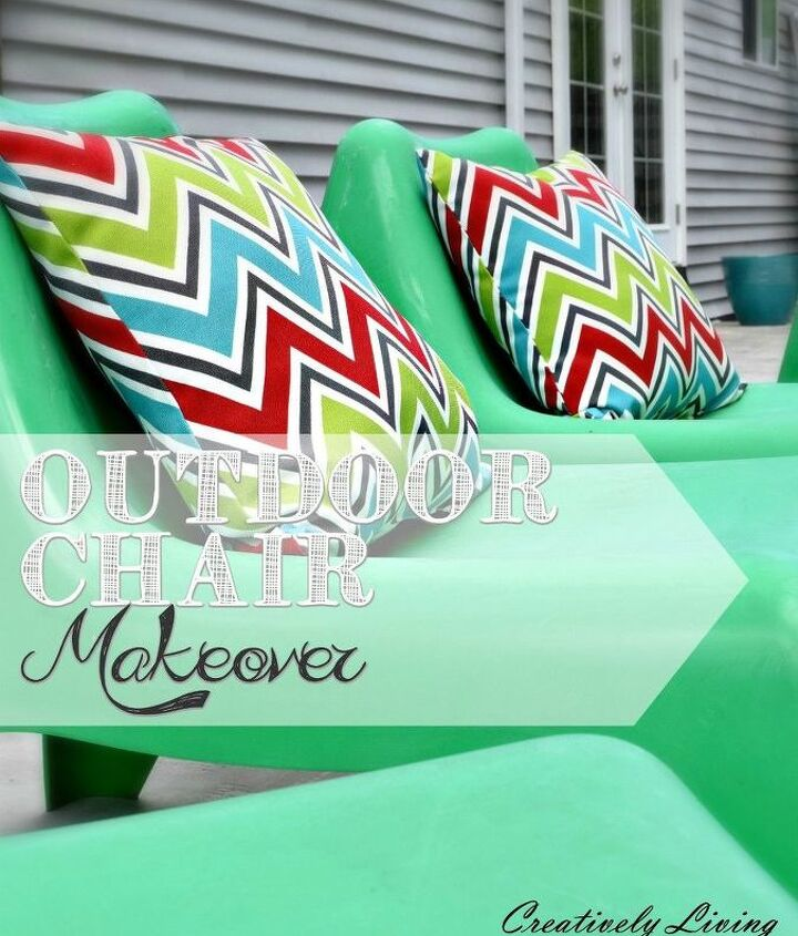 outdoor chair makeover, cleaning tips