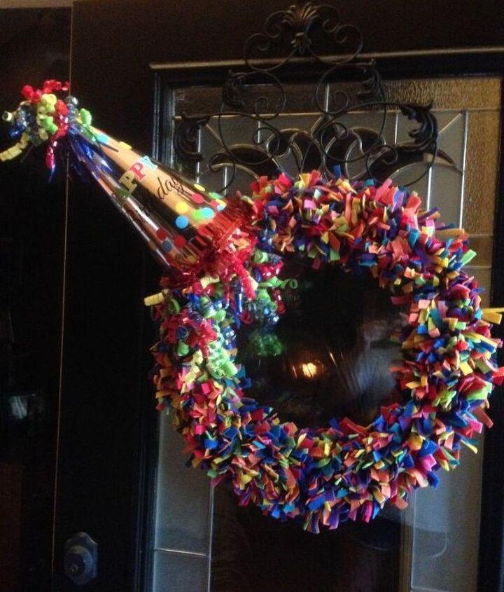 birthday wreath, crafts, wreaths