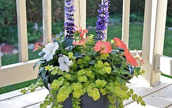 pretty planters, container gardening, flowers, gardening