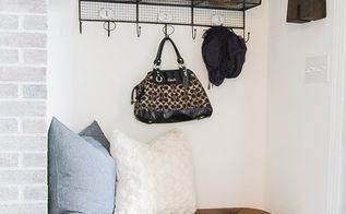 diy leather tufted ottoman with custom hairpin legs, crafts, foyer, painted furniture