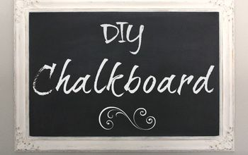 make your own chalkboard out of a thrift store picture, chalkboard paint, crafts, repurposing upcycling