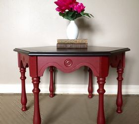 Red Side Table Before After Not Just An Accent Color , Painted Furniture