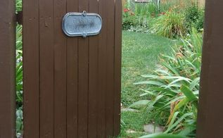 easy rustic garden gate made with a piece of fence, fences, outdoor living, painted furniture