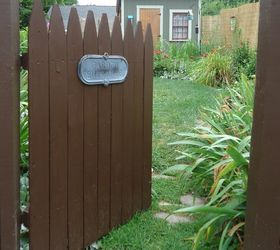 Easy Rustic Garden Gate Made With A Piece Of Fence, Fences, Outdoor Living,