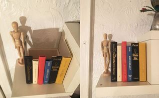 secret storage book box, repurposing upcycling, shelving ideas, storage ideas