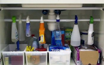 easiest under the sink organizer hack, how to, organizing, storage ideas