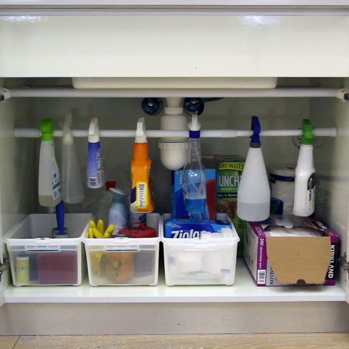Easiest Under the Sink Organizer Hack | Hometalk