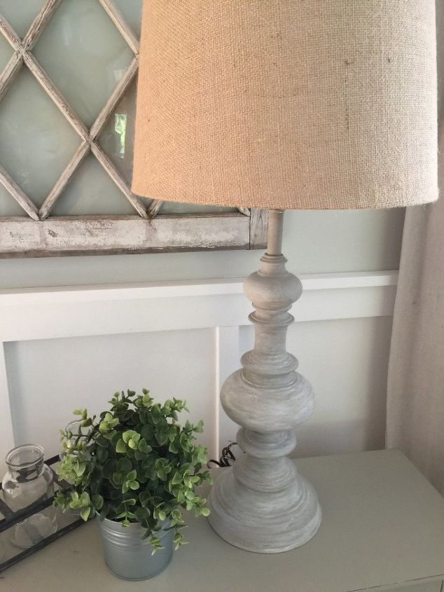 diy restoration hardware inspired lamp makeover, lighting, painted furniture
