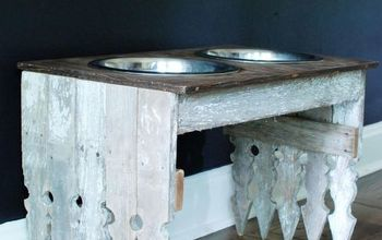 unique dog feeding stand, how to, pets animals, repurposing upcycling, rustic furniture, shabby chic, woodworking projects