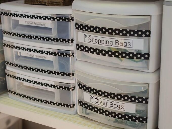 inexpensive attractive easy way to organize all of your plastic bags, how to, organizing, storage ideas