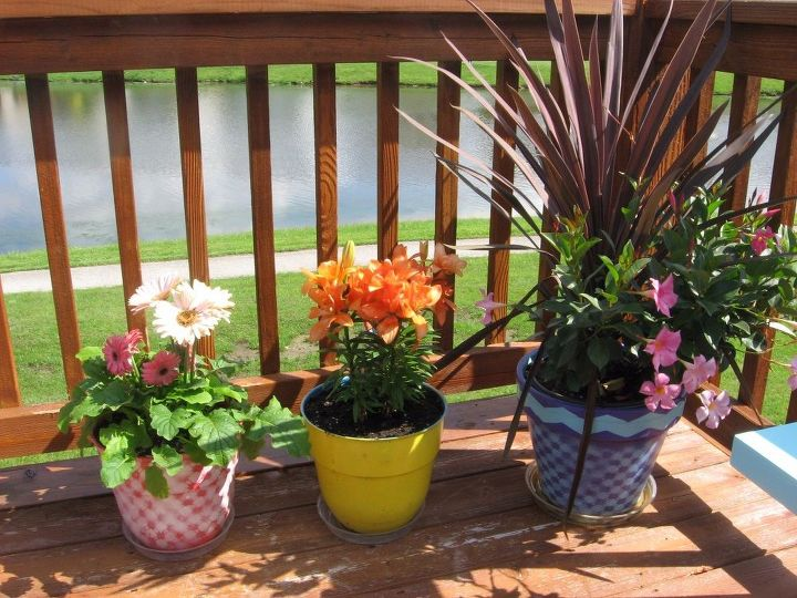 after garden deck patio decor, container gardening, crafts, decks, gardening, outdoor living, patio, repurposing upcycling
