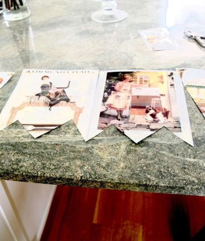 how to turn a magazine into a really cute custom banner , crafts, how to, repurposing upcycling
