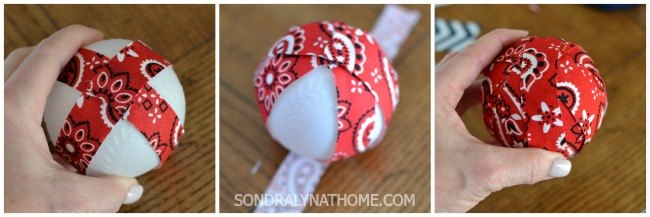 fabric vase filler balls, crafts, how to, reupholster