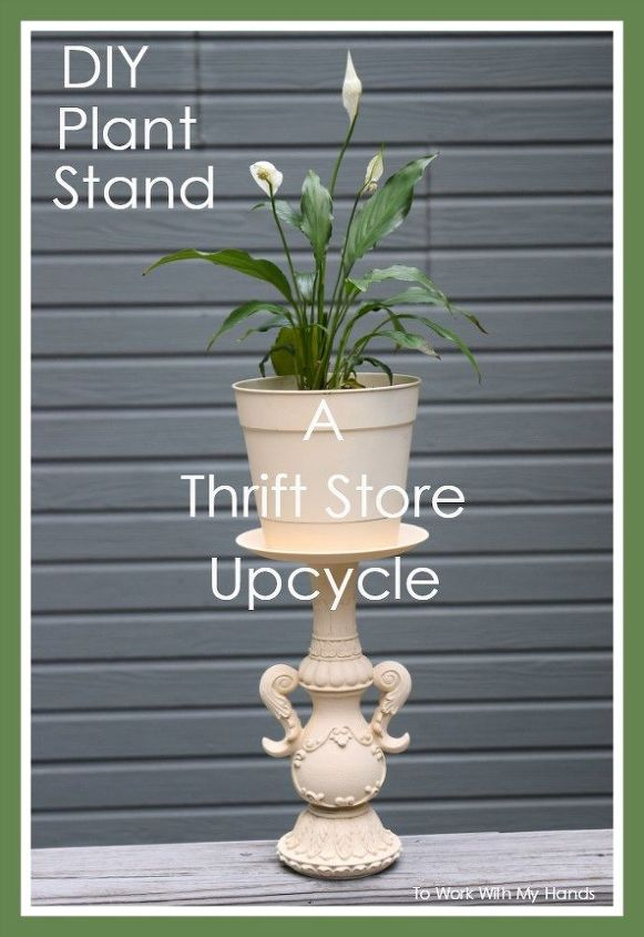 diy plant stand a thrift store upcycle, container gardening, crafts, gardening, how to, painted furniture, repurposing upcycling