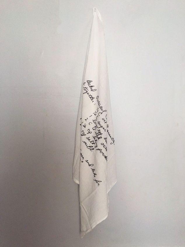 DIY Hand Written Recipe Tea Towel | Hometalk