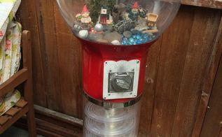 gnome home, crafts, outdoor furniture, repurposing upcycling