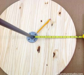Diy Bistro Table With Pedestal Base Made Of Wood Salad Bowl And Pipe ,  Crafts,