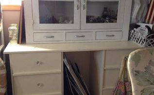 Desk To Hutch Painted Furniture Repurposing Upcycling