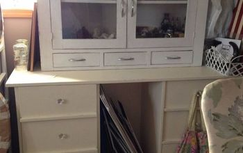 desk to hutch, painted furniture, repurposing upcycling