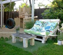 awesome up cycled pallets furniture ideas, painted furniture, pallet