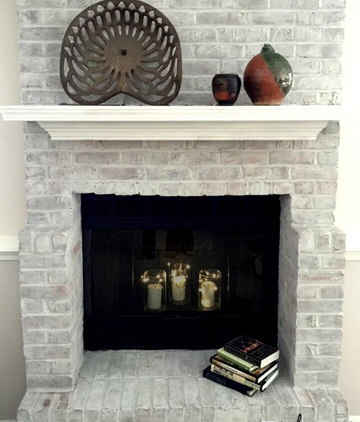 80 s fireplace update by leslie stocker, fireplace makeovers, fireplaces mantels, painting