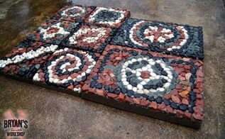how to make mosaic rock pavers , concrete masonry, how to, landscape