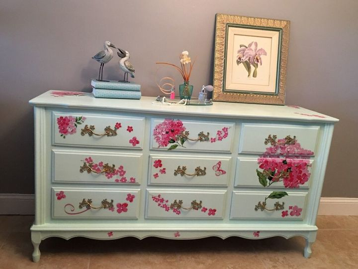 broyhill french proviencial trash to cash , chalk paint, painted furniture