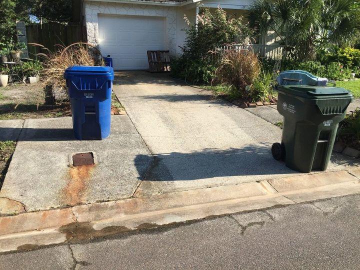 q hide my outdoor trash bins, organizing, storage ideas, Trash bins need outdoor fence to hide
