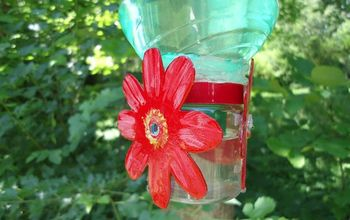 hummingbird feeder diy made from soda bottle and seasoning container, crafts, pets animals, repurposing upcycling