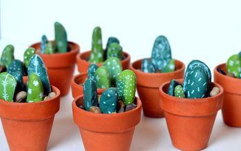 Painted Rock Cactus Centerpieces