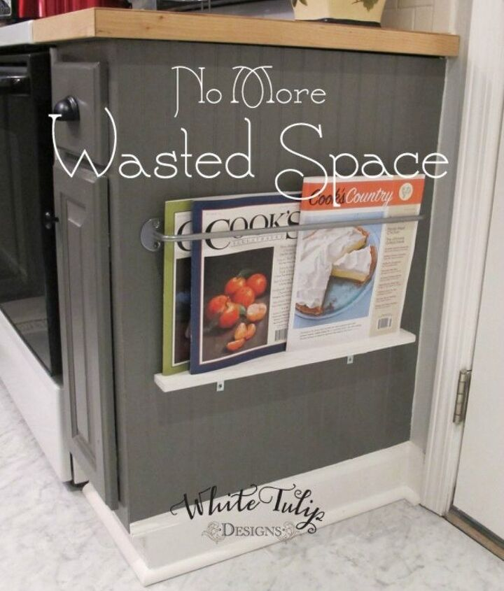 s 11 storage hacks that will instantly declutter your kitchen, kitchen design, organizing, storage ideas, Create vertical space with a magazine rack