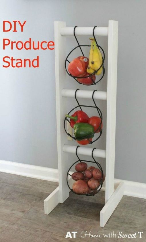 s 11 storage hacks that will instantly declutter your kitchen, kitchen design, organizing, storage ideas, Create your own produce stand