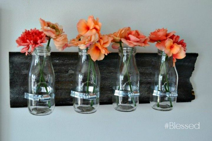 s how 15 creative people fill their empty walls, wall decor, Infuse color with hanging flower vases