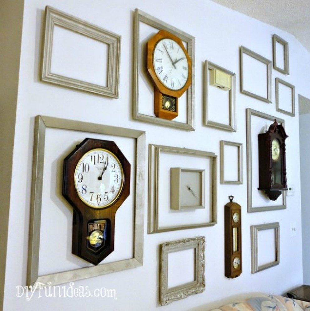 How 15 creative people fill their empty walls hometalk frame a clock gallery amipublicfo Images