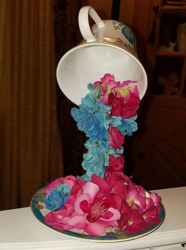 Overflowing teacups with silk flowers hometalk overflowing teacups with silk flowers crafts repurpose household items mightylinksfo