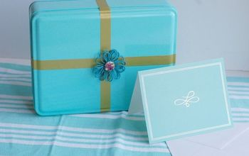 Turn Those Ugly Cookie Tins Into an Adorable Re-Usable Gift Box!