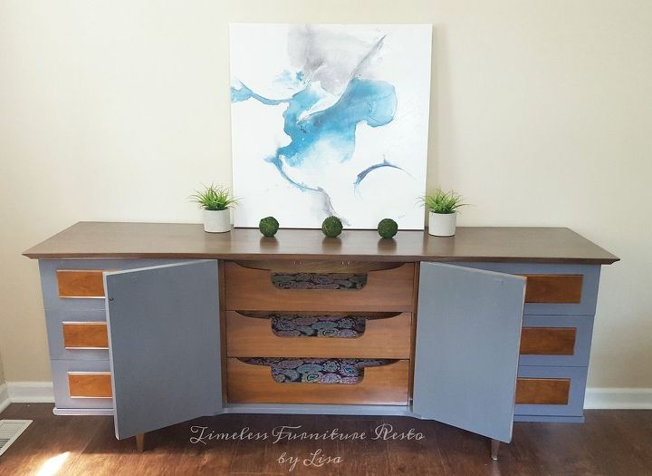 mid century modern redo , how to, painted furniture, painting