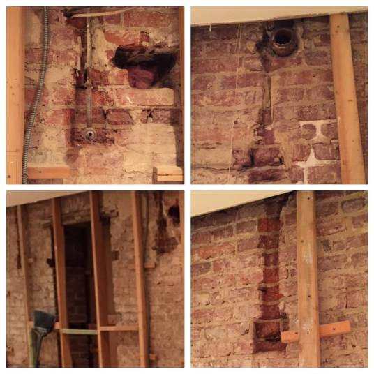 Exposing & Cleaning A 100-Year-Old Brick Wall