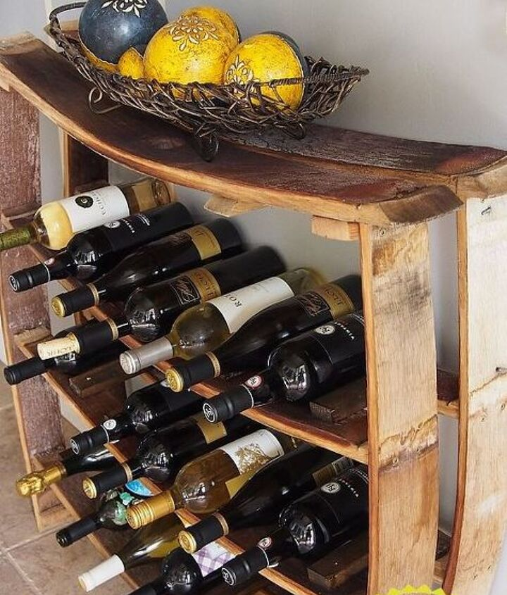 easy wine stave wine rack, how to, organizing, repurposing upcycling, storage ideas, woodworking projects