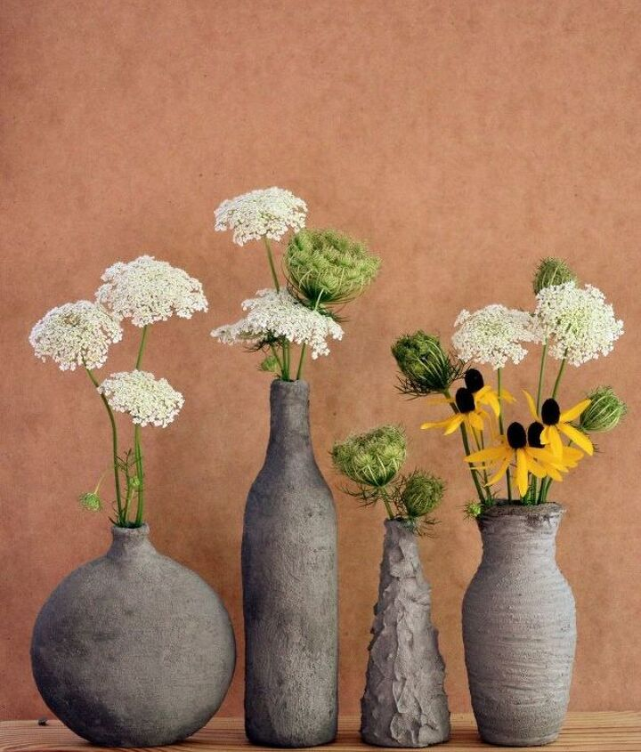 DIY Cement Vases