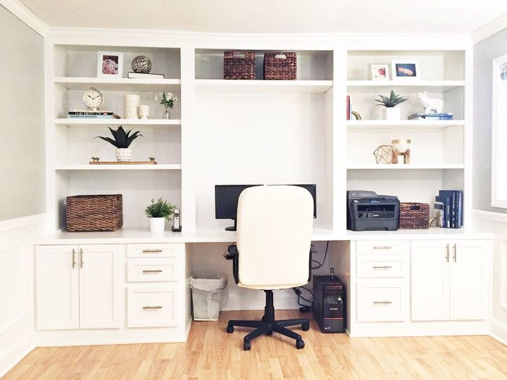 Built In Desk Reveal Home Decor Improvement Office How To