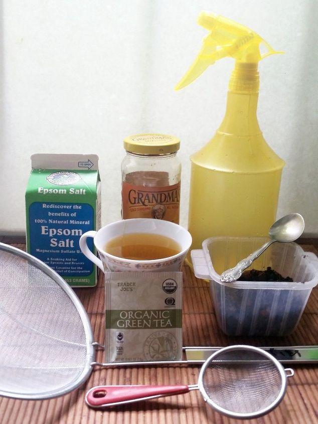 All you need—Green tea, Epsom Salt & Molasses