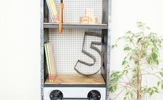 ikea hack industrial kids shelf with another secret purpose , painted furniture, shelving ideas