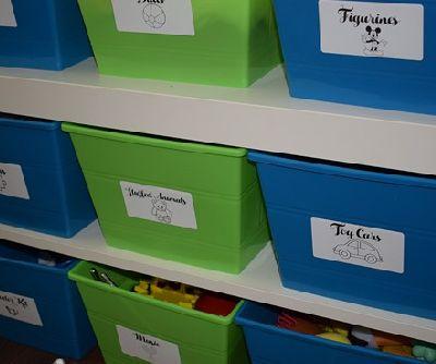 playroom organization tips, entertainment rec rooms, organizing, storage ideas
