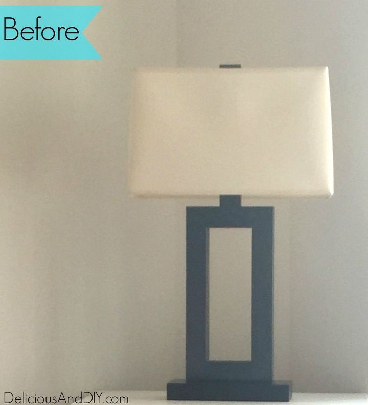 lamp makeover, crafts, how to, lighting, painted furniture, painting