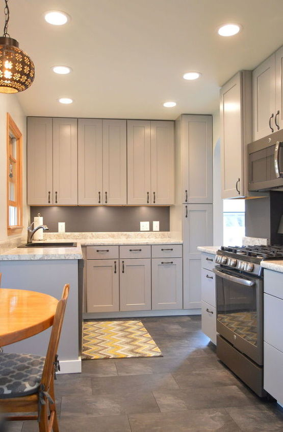 s 13 kitchen paint colors people are pinning like crazy, kitchen design, paint colors, Or paint your whole Kitchen Grey