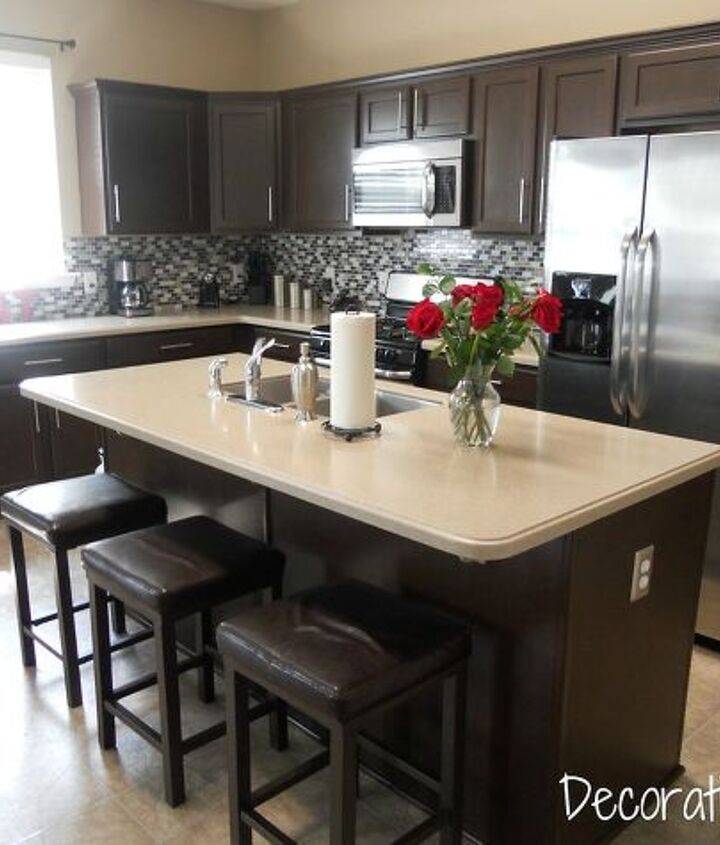 s 13 kitchen paint colors people are pinning like crazy, kitchen design, paint colors, Give it a modern feel with dark brown
