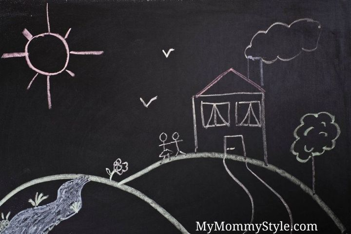 5 totally awesome ways to use chalkboard paint, chalkboard paint, crafts, how to, wall decor