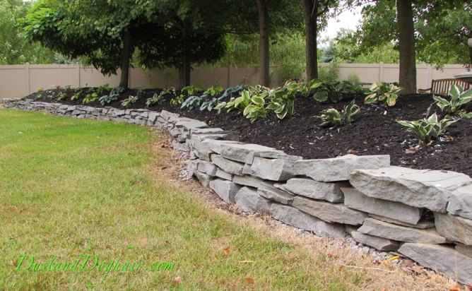 Well-known DIY Stacked Stone Garden Wall | Hometalk FI47