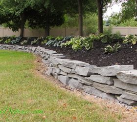 Ordinaire Diy Stacked Stone Garden Wall, Concrete Masonry, Landscape, Outdoor Living